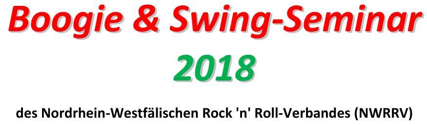 Mit Frühbucherrabatt: Anmeldungen zum Boogie & Swing Seminar 2018 geöffnet