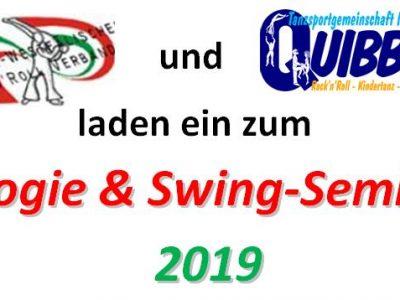 Einladung zum Boogie & Swing Seminar 2019